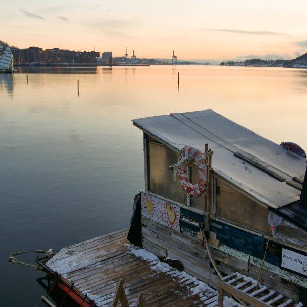 Sauna im Hafen in Oslo