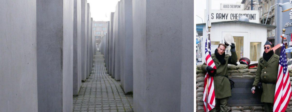 Berlin Sehenswürdigkeiten J udendenkmal Chekpoint charlie