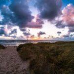 Sonnenuntergang auf Sylt bei unserem Camping Wochenende
