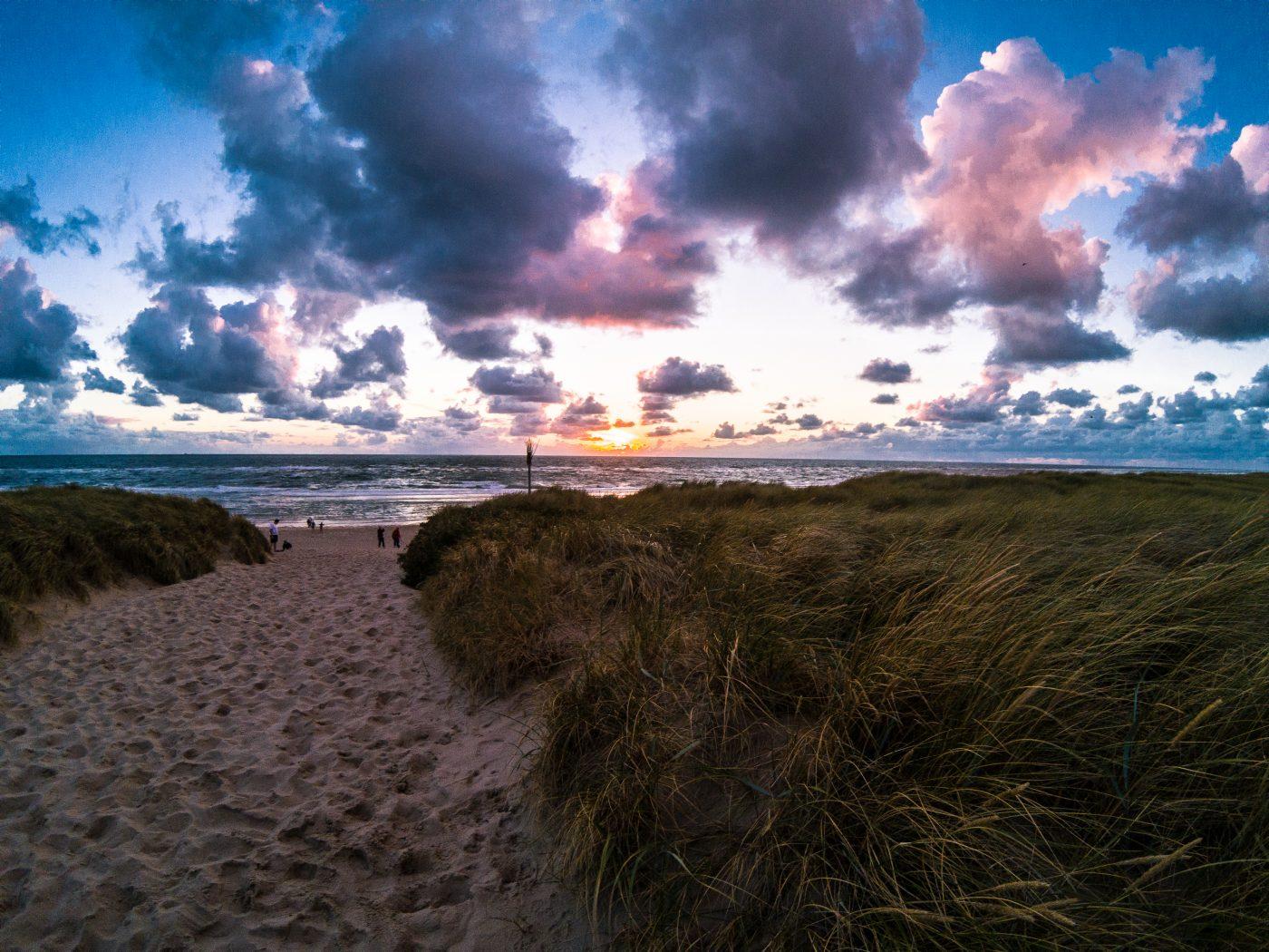 Sonnenuntergang am Strand in Rantum auf Sylt