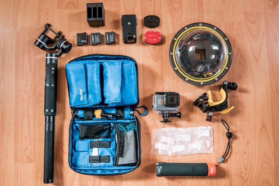 Gopro Kamera und Zubehör auf Weltreise
