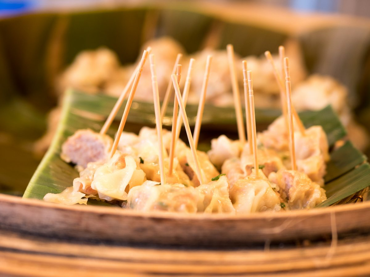 Chicken Dumplings beim Center World in Bangkok