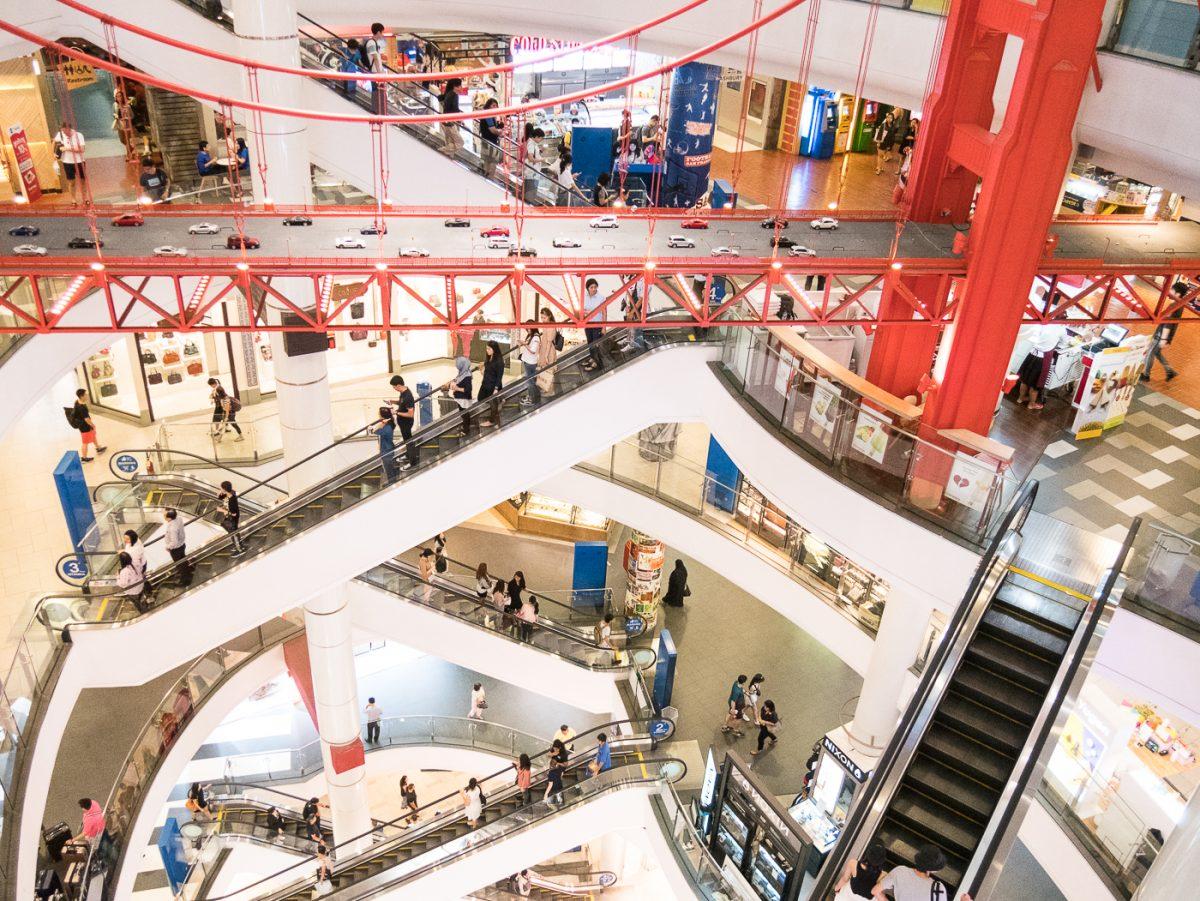 Golden Gate Bridge im Einkaufszentrum Terminal 21 in Bangkok