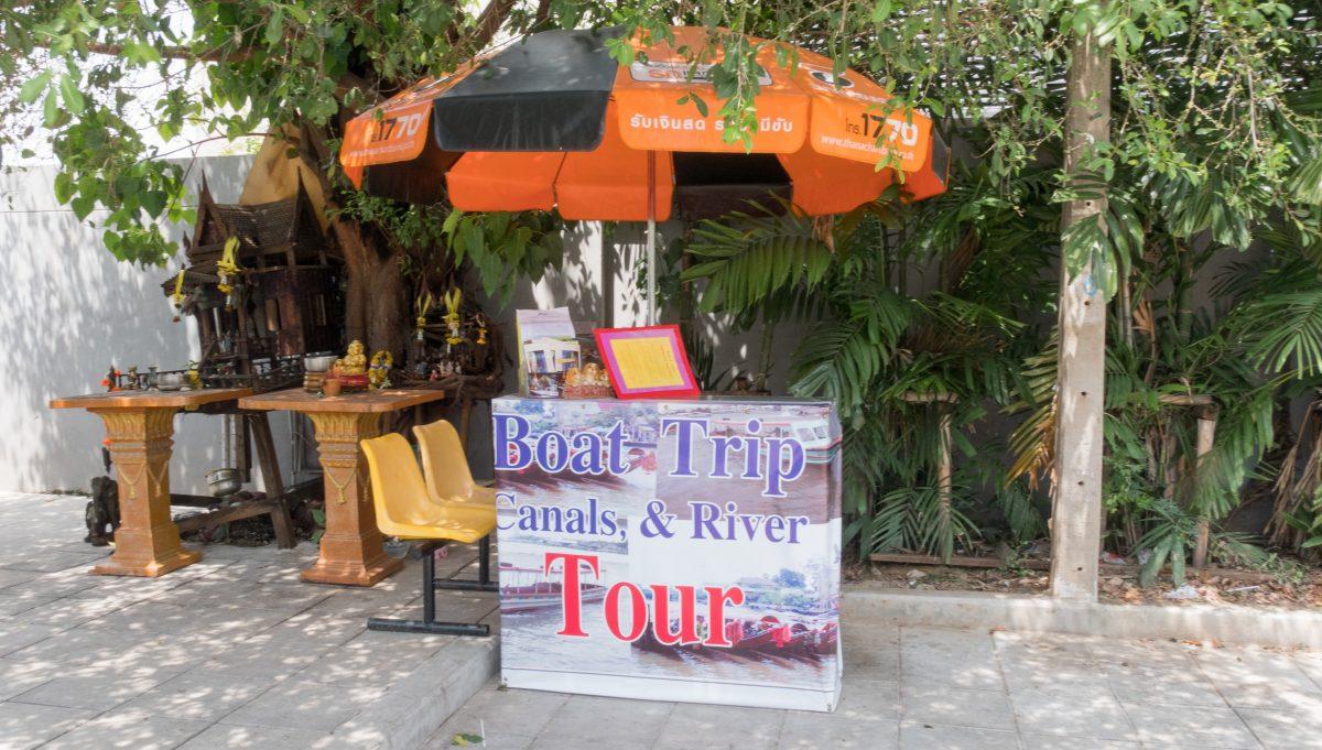 Ticketverkauf für Bootstouren in Bangkok