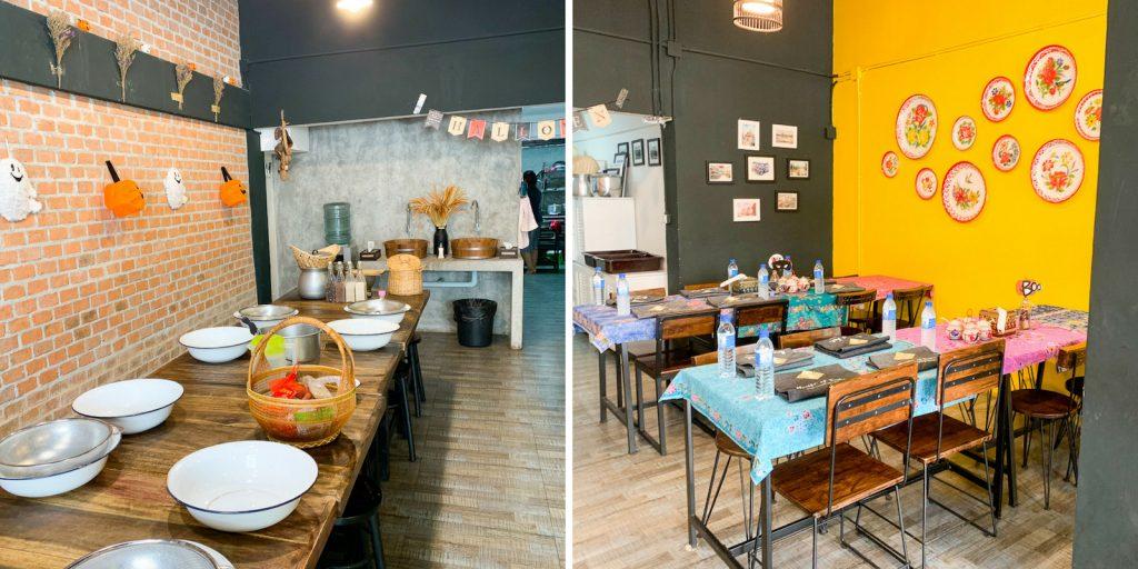 Die Räume der Kochschule House of Taste in Bangkok