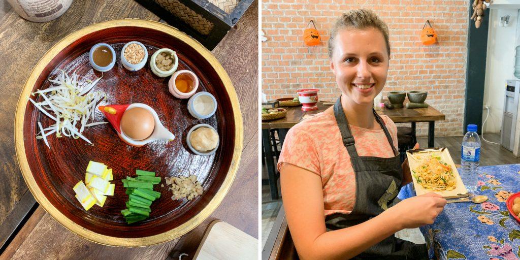 Pad Thai selber kochen beim Kochkurs in Bangkok