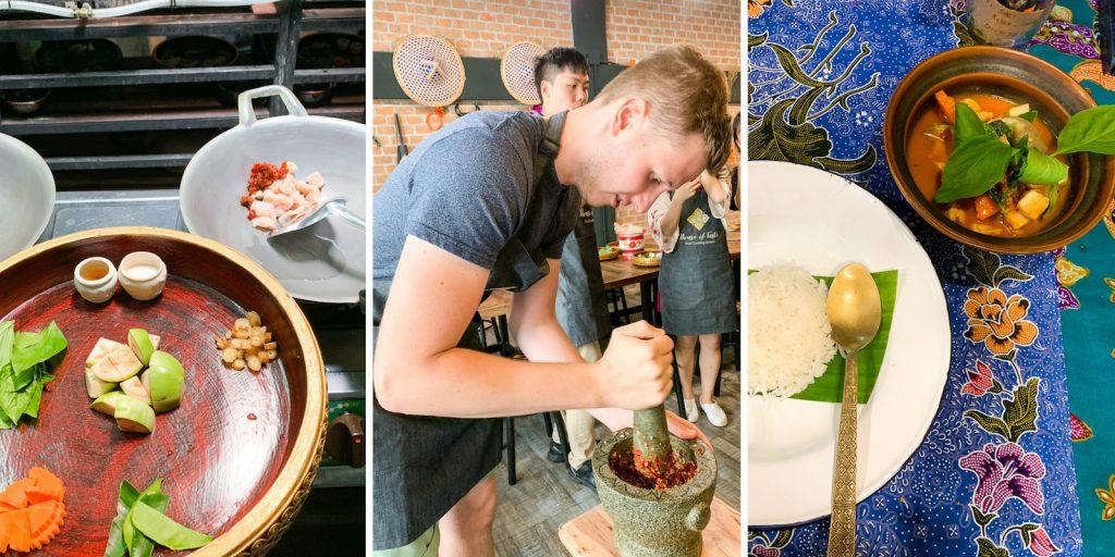 Rotes Curry selber machen beim Kochkurs in Bangkok