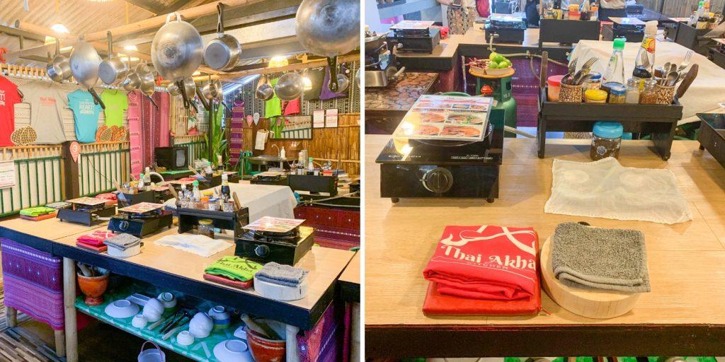 Thai Kochschule in Chiang Mai mit Akha Kultur