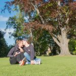 Wir beide im Botanischen Garten von Christchurch
