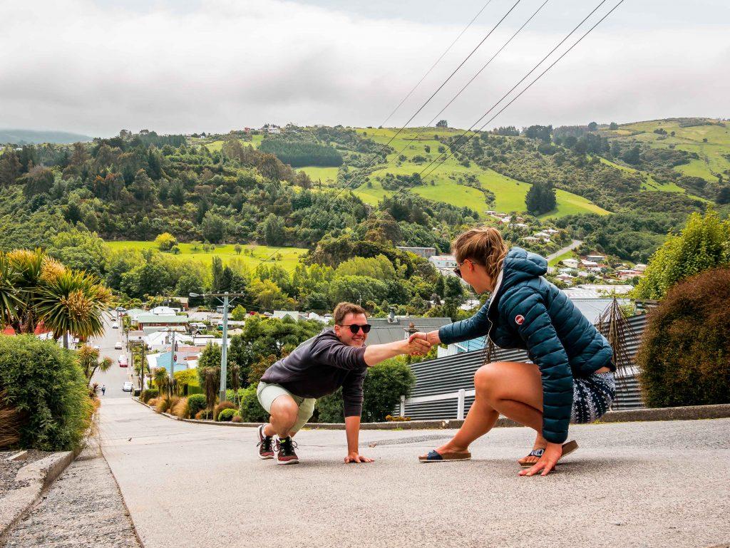 Die steilste Straße der Welt: Baldwin Street in Dunedin