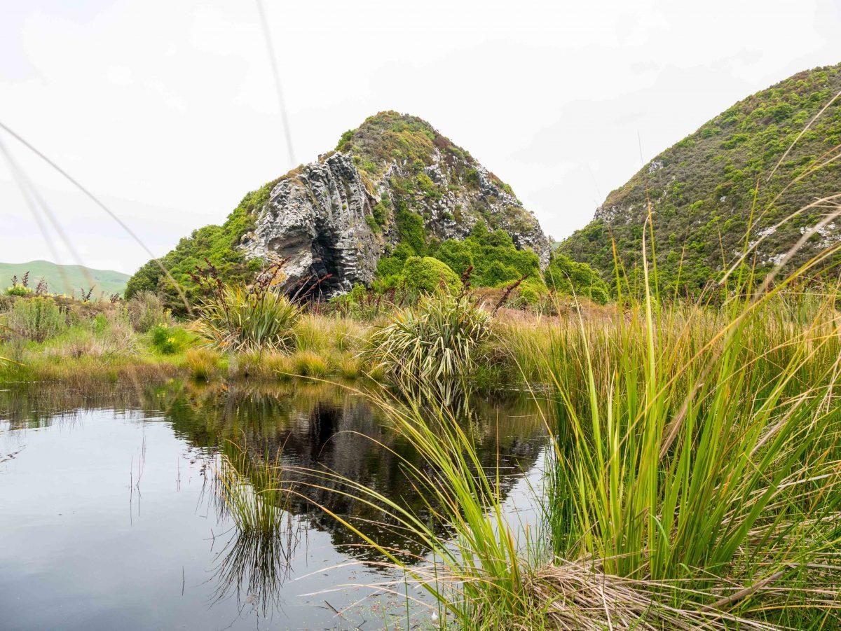 Pyramiden auf der Otago Peninsula