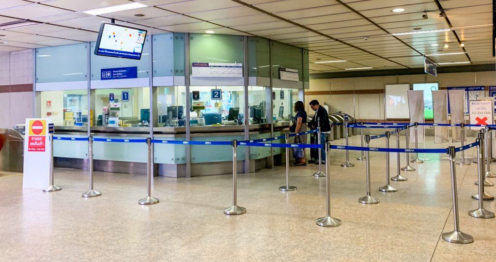 Ticketschalter der MRT(Metro) in Bangkok