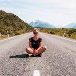 Straße zum Mount Cook -Südinsel-Neuseeland