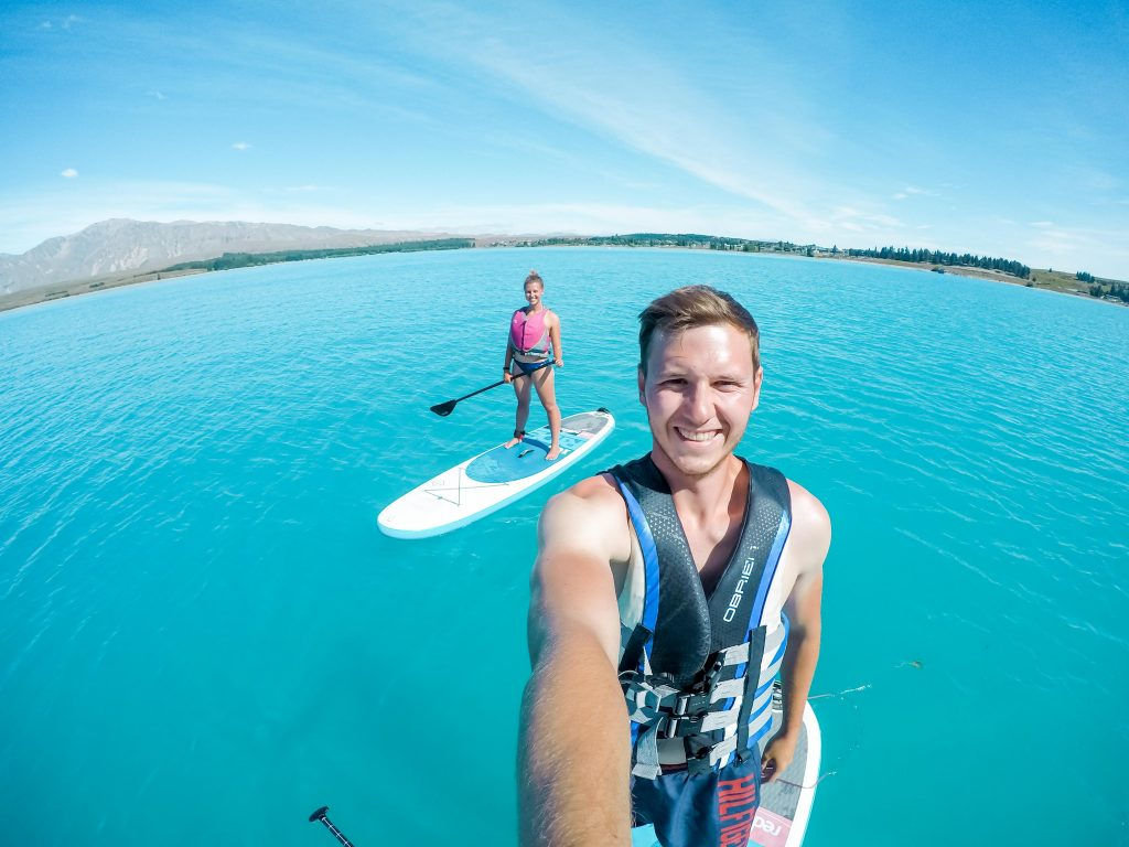 Stand up paddeln auf dem Lake Tekapo - Südinsel Neuseeland