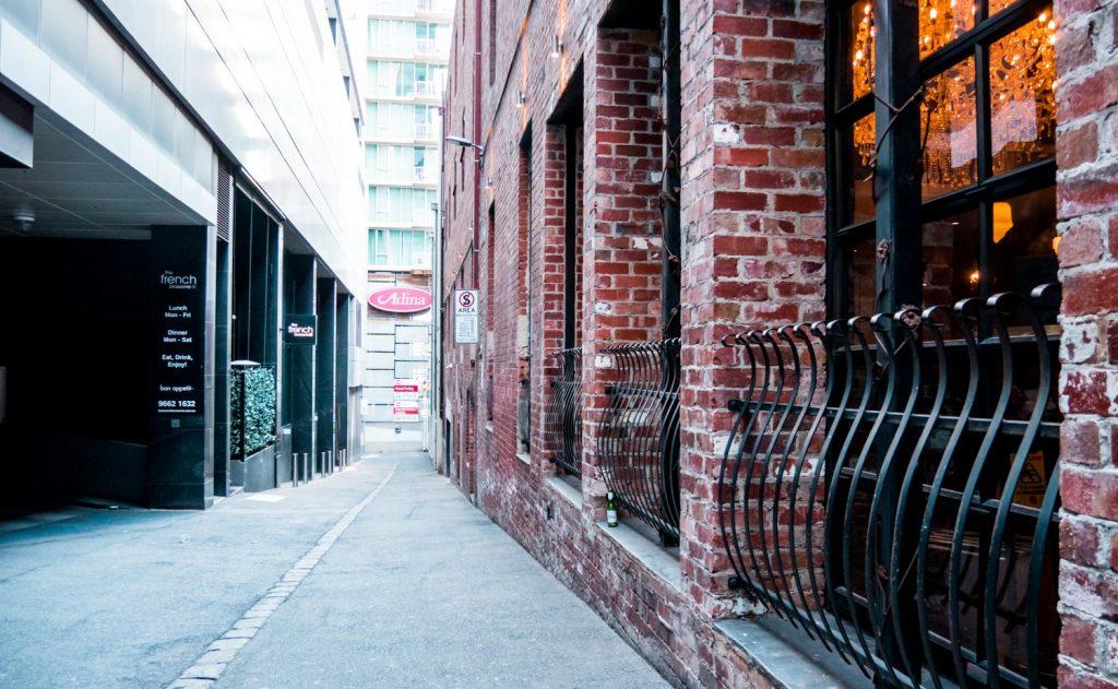 Restaurant in einer Lane in Melbourne