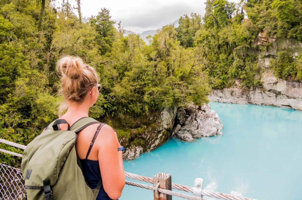 Hokitika Gorge, milchig blauer Gletscherfluss