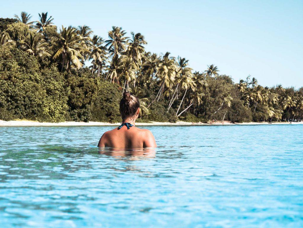 Blaue Lagune auf Turtle Island