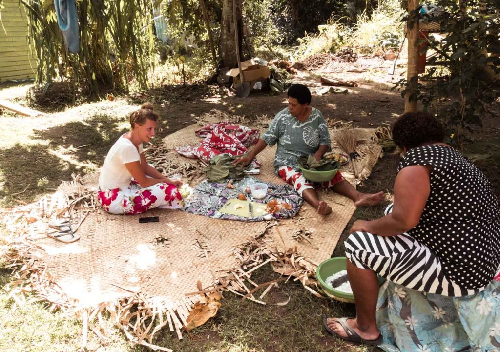 Traditionelles Essen in Fidschi