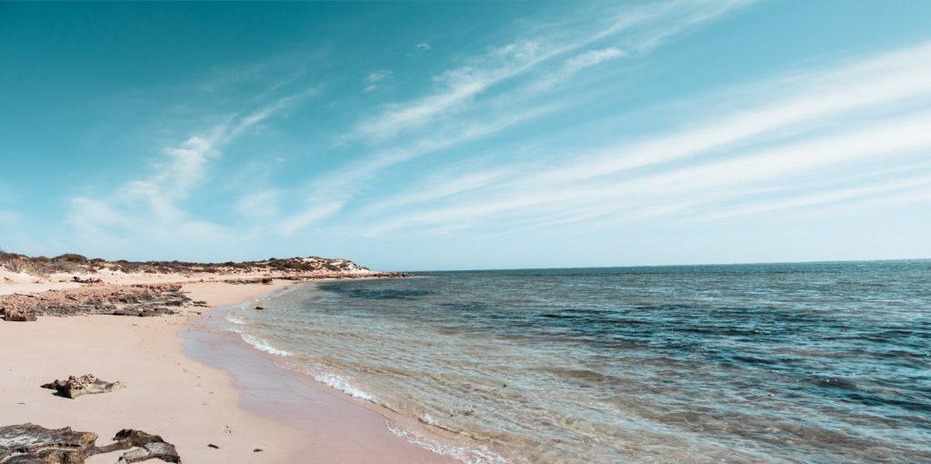 Strand an der Lakeside im Cape range Nationalpark