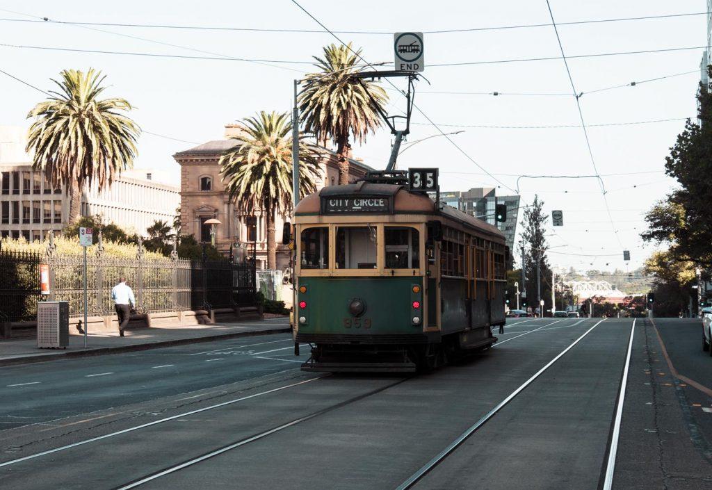 kostenlose Straßenbahn in Melbourne