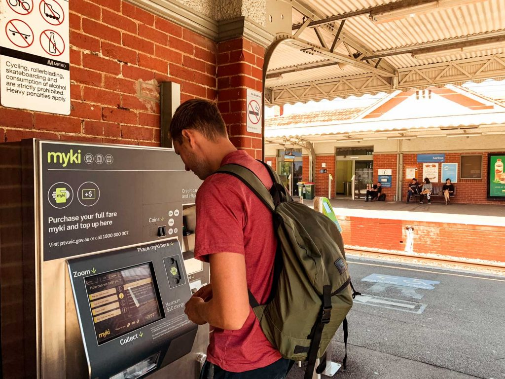 Myki Card Automat in Melbourne