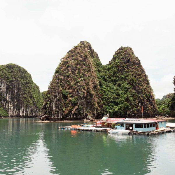 Fischfarm in der Lan Ha Bucht